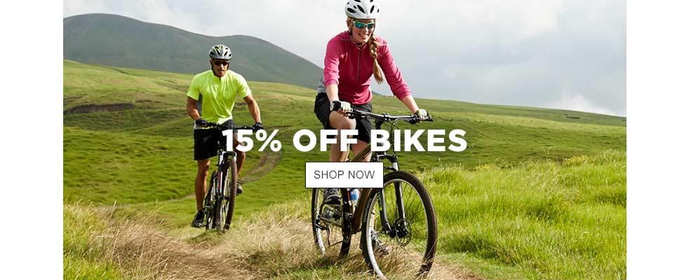 15% Off Bikes