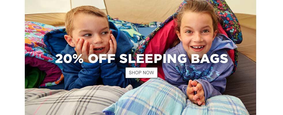 20% Off Sleeping Bags