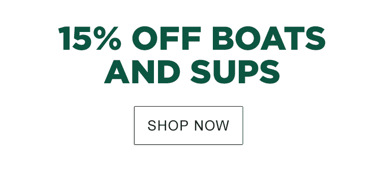 15% Off Boats and SUPs