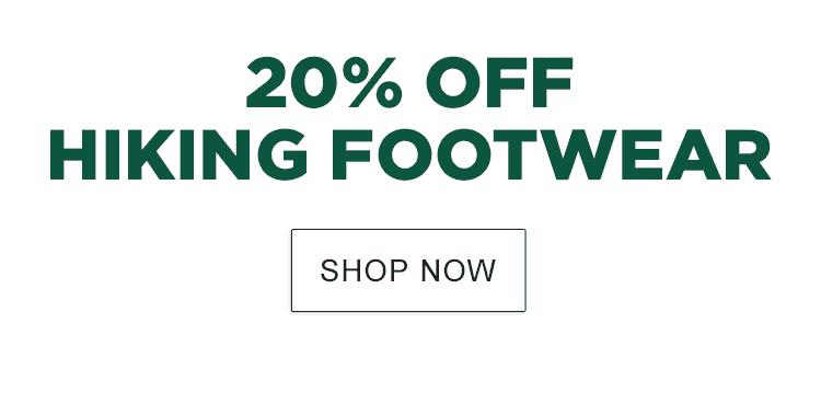 20% Off Hiking Footwear