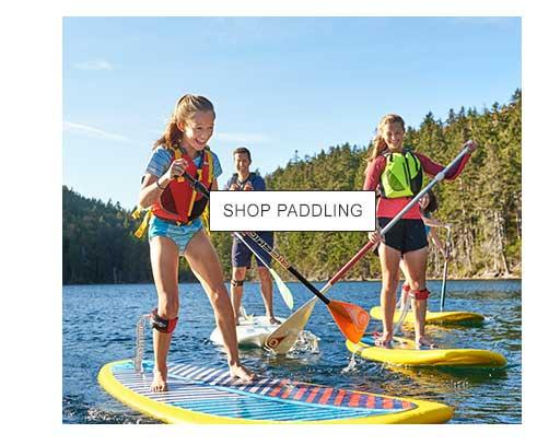 Kids paddleboarding