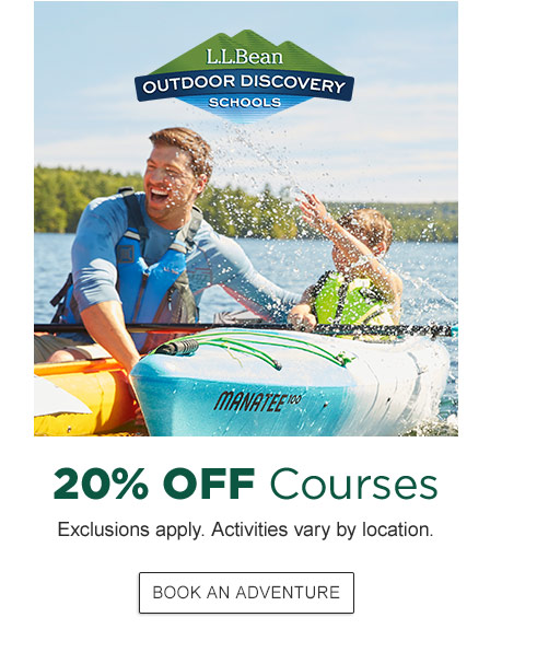 20% Off Courses. Exclusions apply. Activities vary by location.