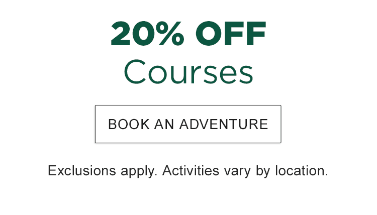 20% Off Courses. Exclusions apply. Courses vary by location.