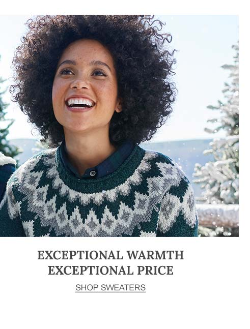 Exceptional Warmth Exceptional Price