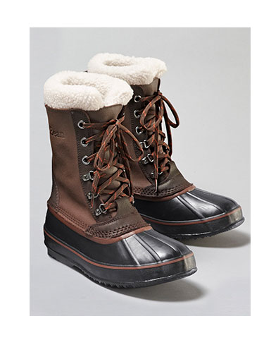 A pair of winter boots.