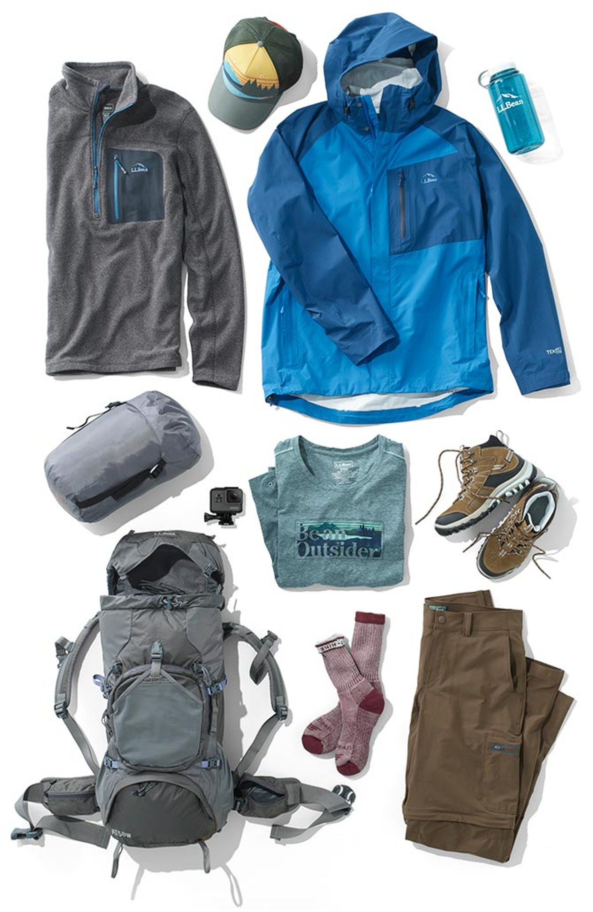 Group of products featured in the A.T. Relay packing list