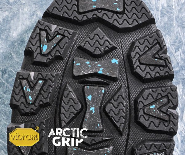 Vibram Arctic Grip Vibram's latest innovation provides unprecedented grip on wet, icy surfaces. We've added it to some of our favorite winter footwear to create the most worry-free walking experience ever.