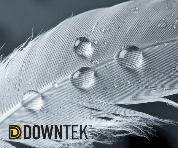 REVOLUTIONARY DOWNTEK INSULATION Specially treated to absorb 33% less moisture and dry 66% faster than standard down. Plus, we only use down certified by the Responsible Down Standard, ensuring best practices in animal welfare.