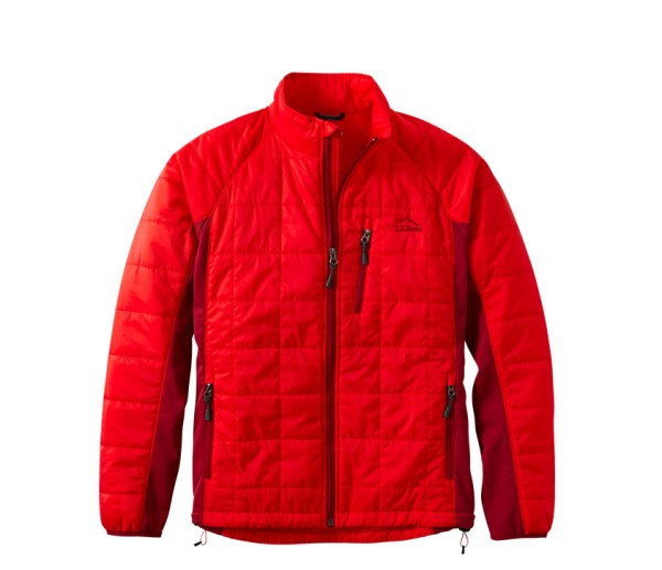 Red L.L.Bean PrimaLoft Packaway Fuse Jacket.