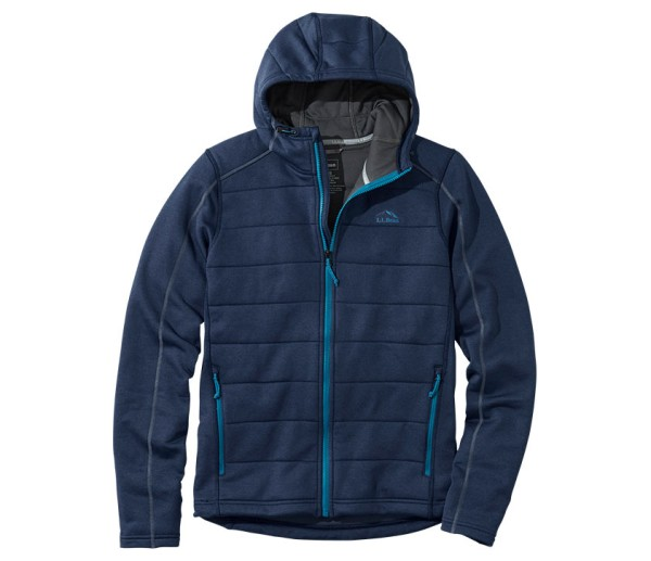 Dark blue L.L.Bean Mountain Pro Fleece Hoodie.