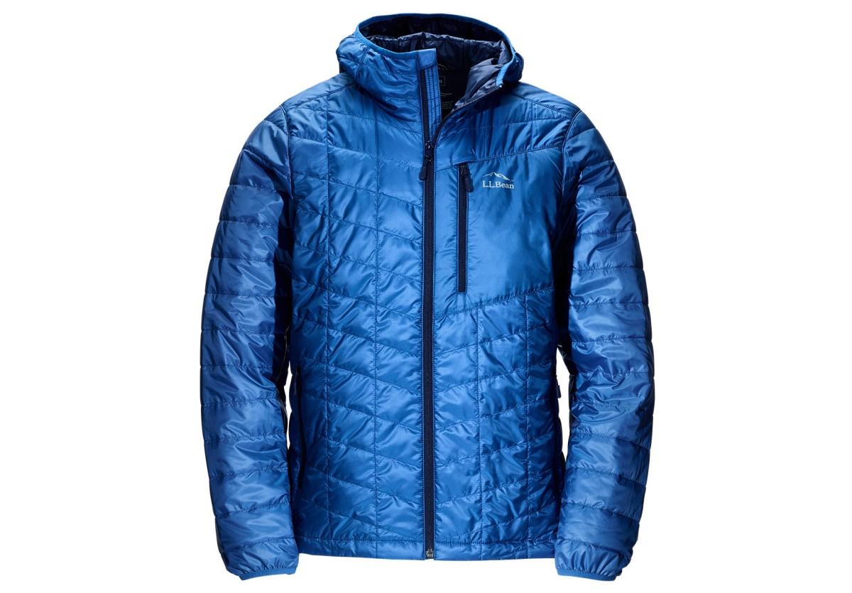 Blue Packaway Jacket with Cross Core.