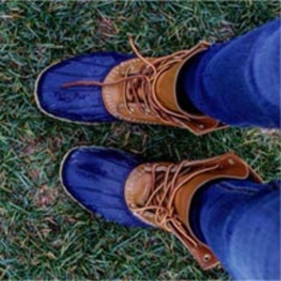 L.L.Bean Boots on the grass