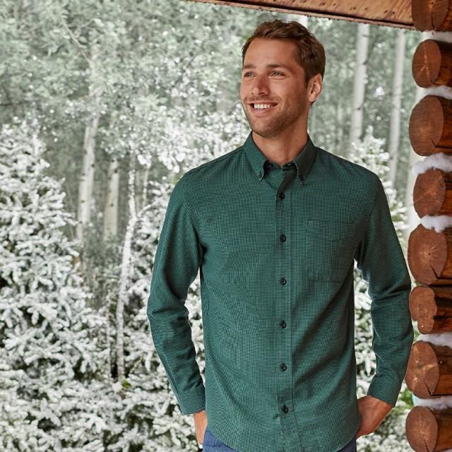 Man wearing a flannel shirt
