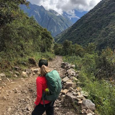Jessie Diggins hiking