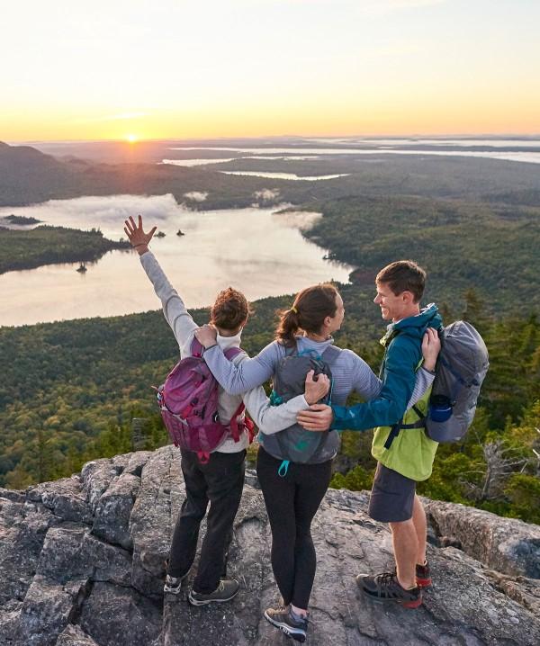 Lea Davison and friends hiking