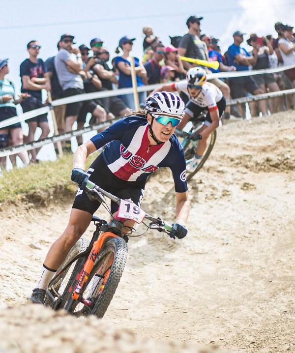 Lea Davison biking