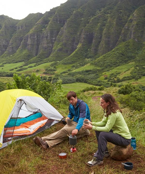 Lea Davison camping