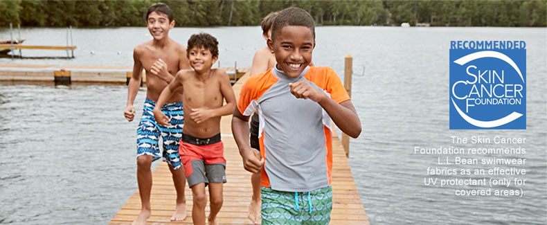 The Skin Cancer Foundation recommends L.L.Bean swimwear fabrics an effective UV protectant (only for covered areas).