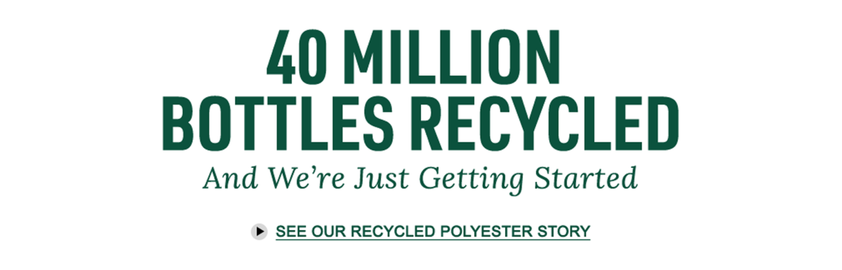 40 Million Bottles Recycled And We're Just Getting Started.