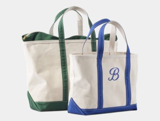 Close-up of two tote bags