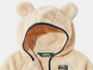 Close-up of infants' and toddlers' high pile fleece jacket
