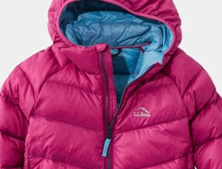 Close-up of hooded down Jacket