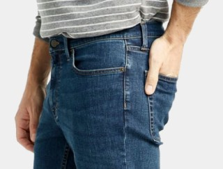 Close-up of man wearing jeans