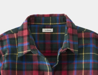 Close-up of women's flannel shirt