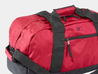 Close-up of duffle bag