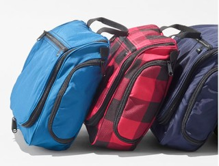 Three toiletry bags