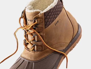 Close-up of winter boot