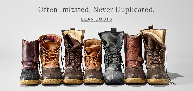 Often Imitated. Never Duplicated. Bean Boots