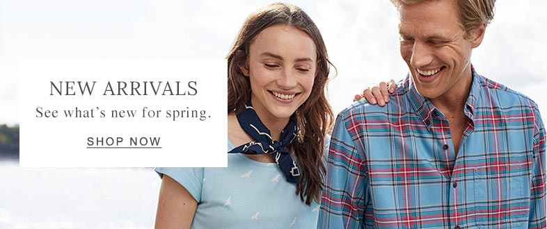 NEW ARRIVALS See what's new for spring.