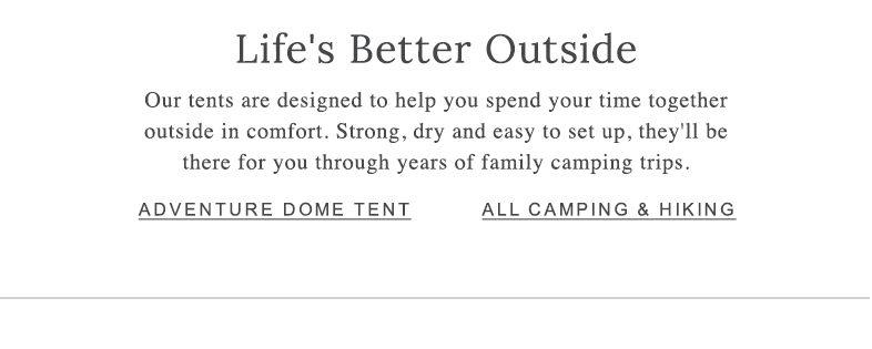 ADVENTURE DOME TENT ALL CAMPING & HIKING
