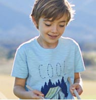 Boy in L.L.Bean Graphic Tee