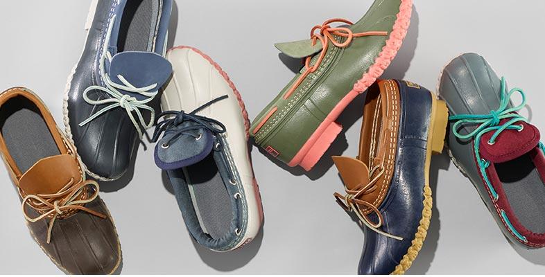 Variety of rain footwear