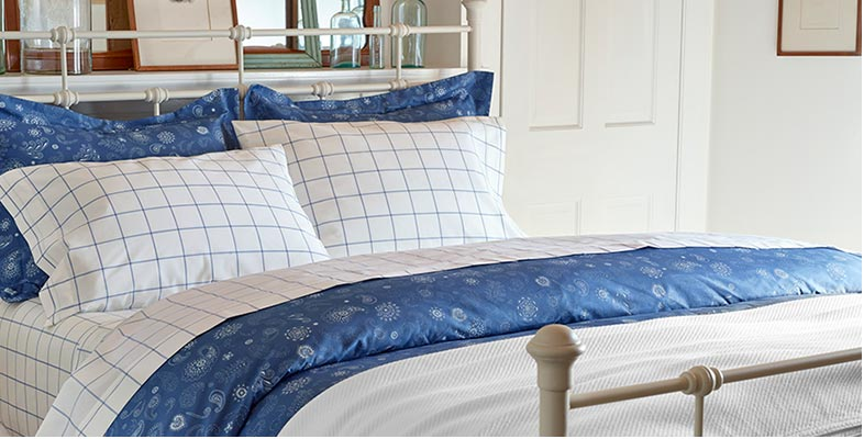 Pima Percale Sheets on bed