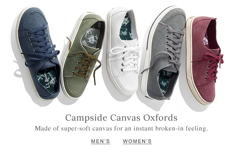 Campside Canvas Oxfords Made of super-soft canvas for an instant broken-in feeling.