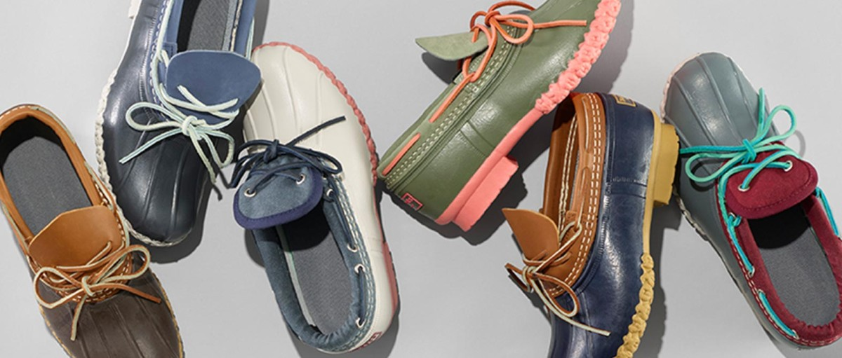 Bean Boots Made from full-grain leather and waterproof rubber for spring splashing.
