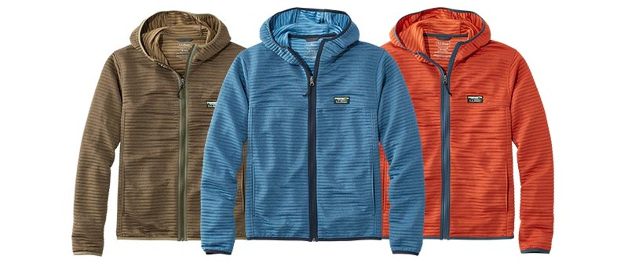 Three lightweight summer L.L.Bean jackets.