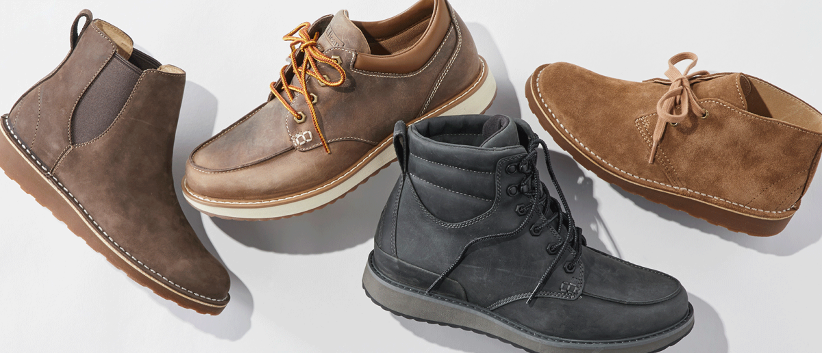 Four new styles of shoes and boots.