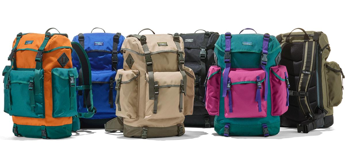 New Arrivals, six colored rucksacks