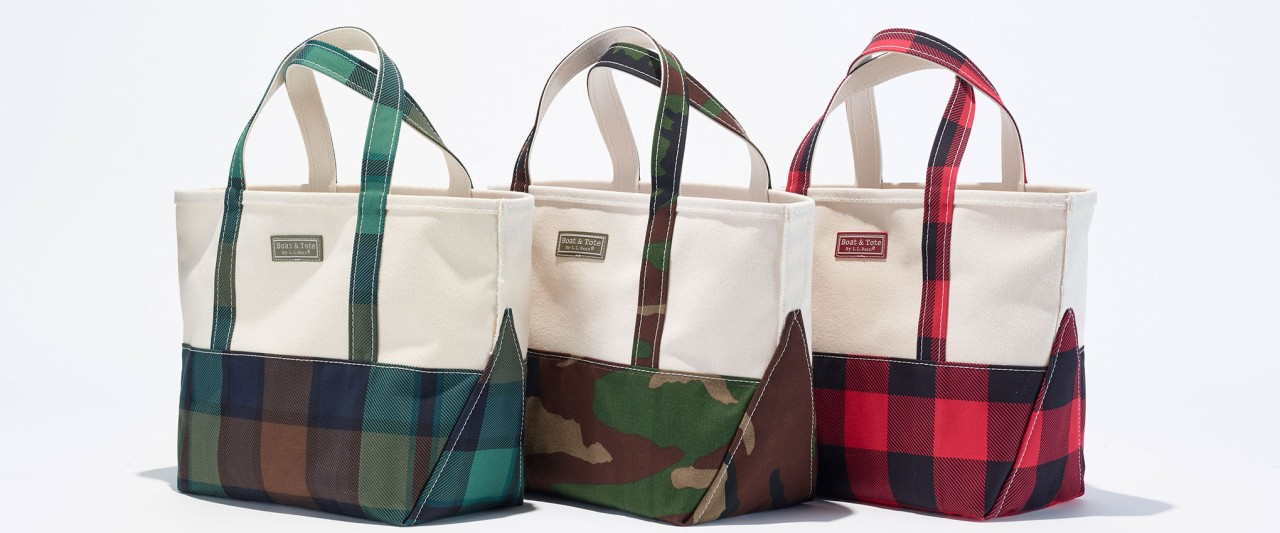 Boat and Tote bags with printed bottoms