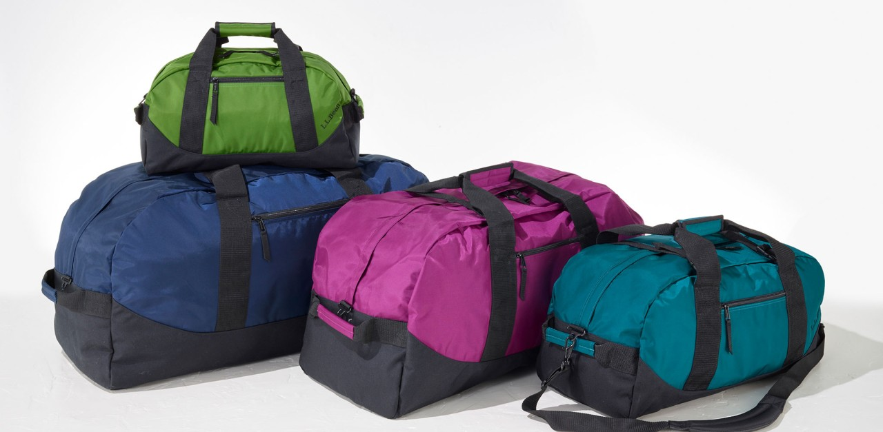 Adventure Duffles in four sizes and four colors