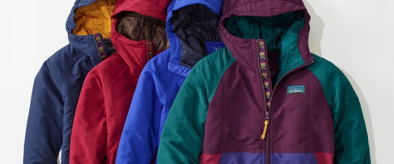 A splay of Mountain Classic Anoraks for kids'.