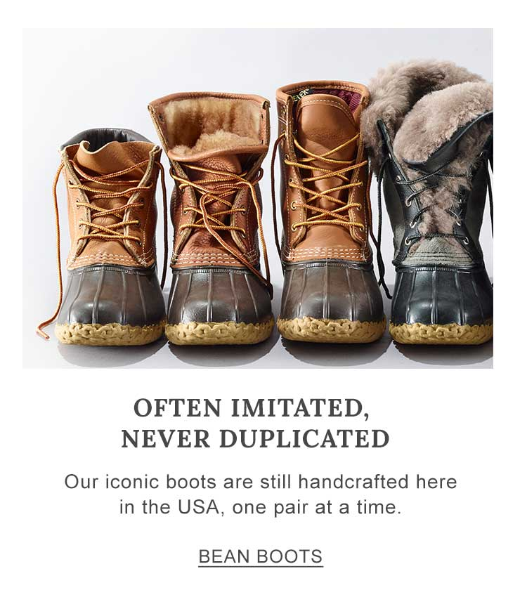 Often Imitated, Never Duplicated Our iconic boots are still handcrafted here in the USA, one pair at a time.