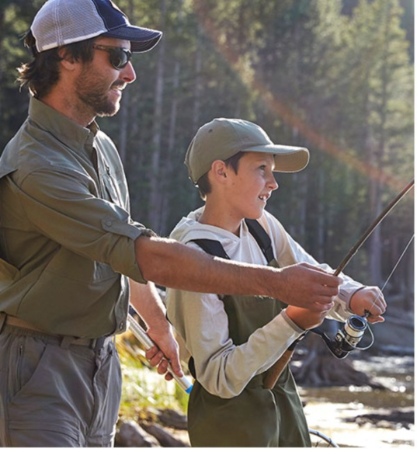 Insect Repellent Father Son Fishing