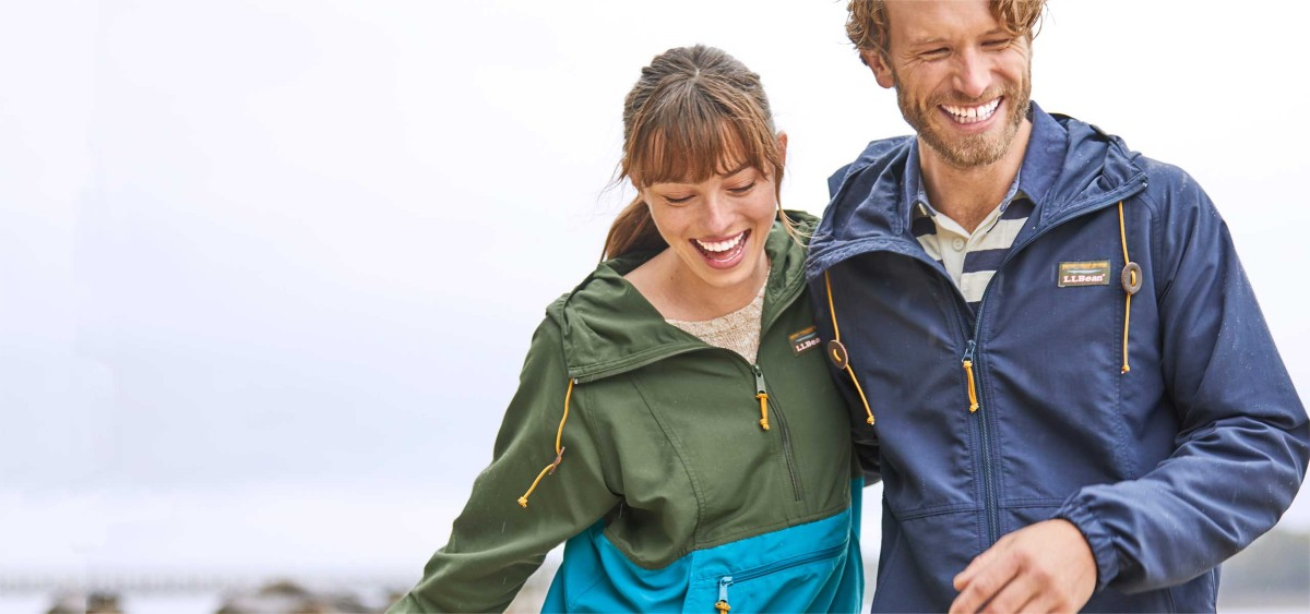Photo of a man and a woman wearing an Anorak