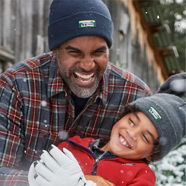 Father and Son winter scene