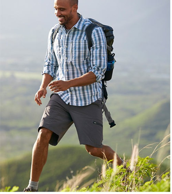 Our Toughest Hiking Shorts Durable fabric exceeds our testing standards, ensuring they'll stand up to every rugged trail mile.